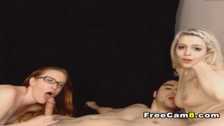 Redhead Plus Hot Blonde Perfect Threesome