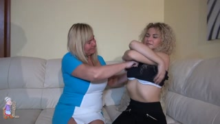 OLDNANNY Mature And Teen Lesbian Strapon