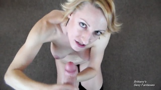 POV Suck Off Game – Give Me A Facial Before He Does