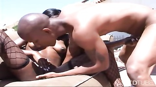 Getting It On With Microscopic Starlet  Outdoor