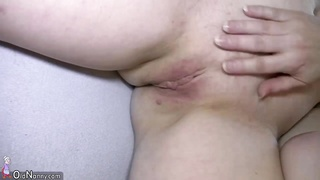 Old Chubby Fat Granny Blowjob Masturbation