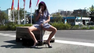 Milf Beaver Masturbation In Exactly The Street In Newbie Public Porn