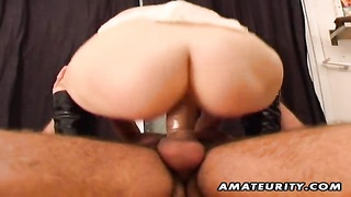 A Naughty Blonde Amateur Teen Girlfriend Homemade Hardcore Anal Fucking With A Very Huge Cock And Fa