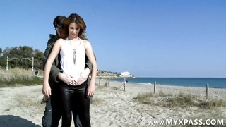Arab Female Banged In Rear End  Style On The Beach