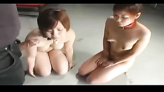 Oriental Extereme BDSM – Two Slavegirls Deep Throats Sir Man-meat